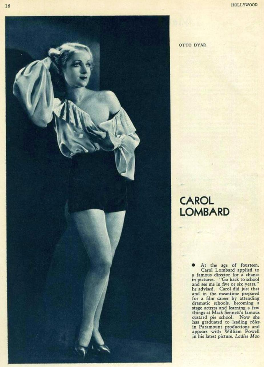 carole lombard hollywood march 1931b