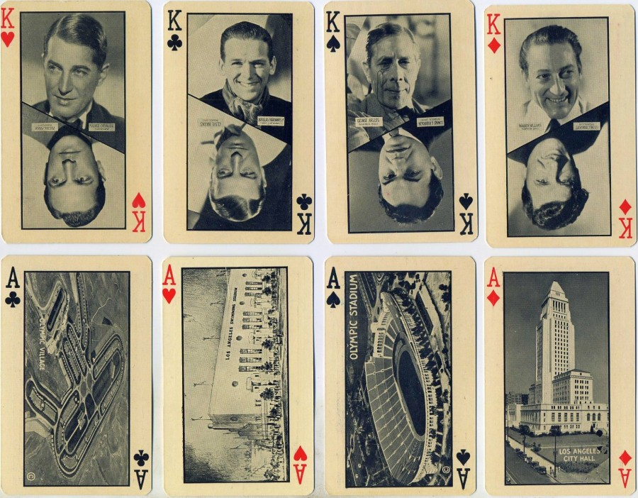 carole lombard 1932 olympics playing cards 01a