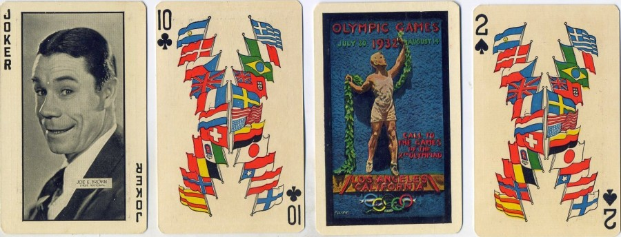 carole lombard 1932 olympics playing cards 02a