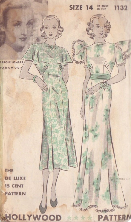 carole lombard hollywood pattern 1132c