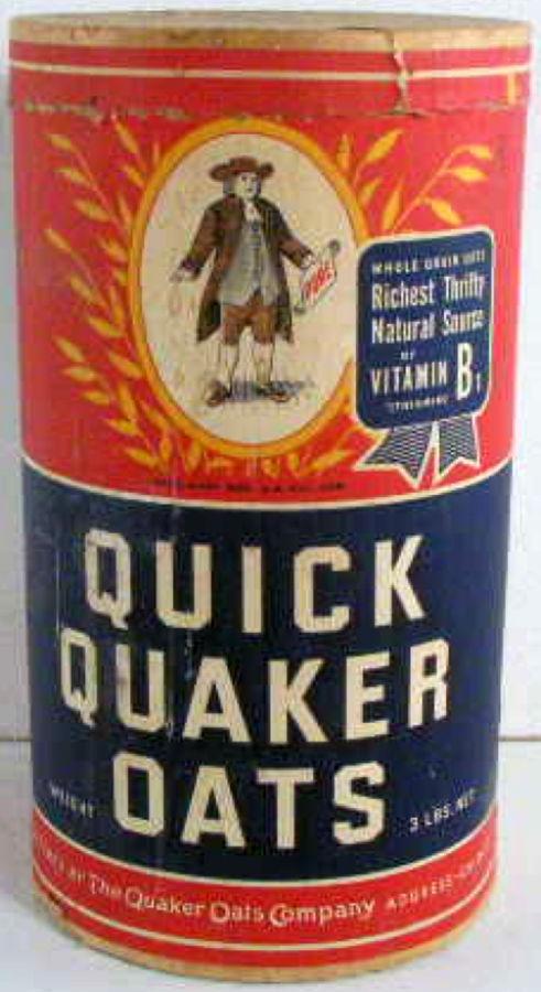 quaker oats 1930s larger