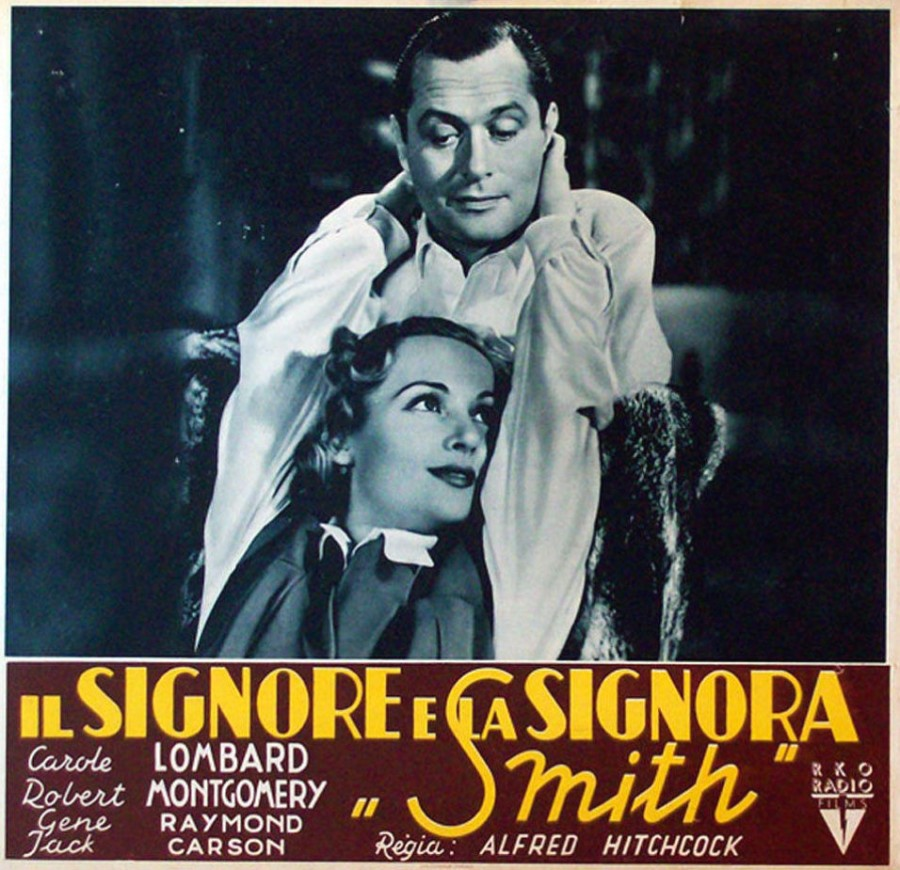carole lombard mr. & mrs. smith italian poster 00a