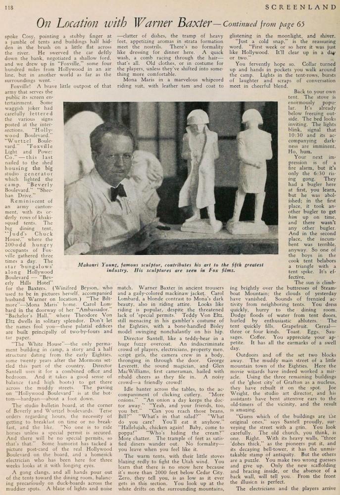 carole lombard screenland july 1930ca