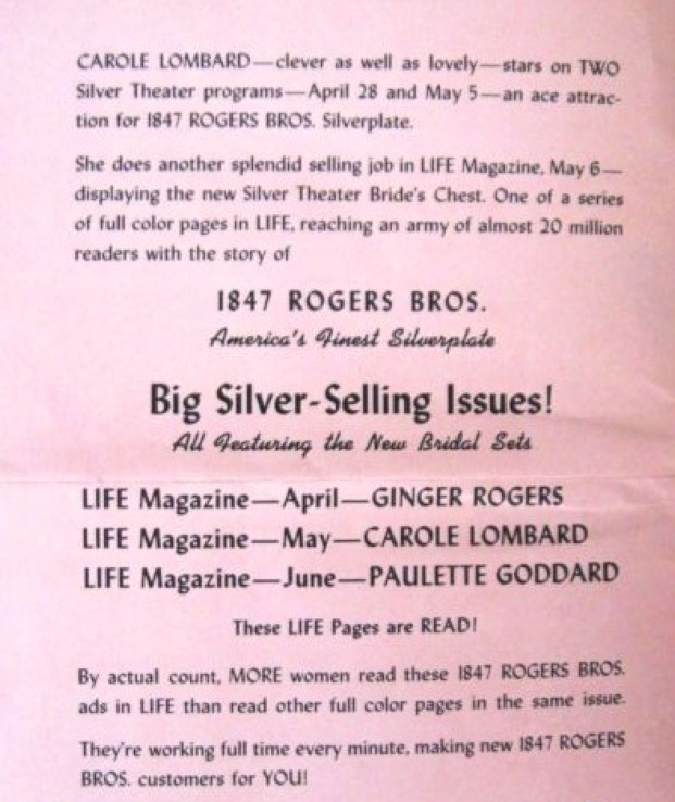 carole lombard silver theater promotion 06