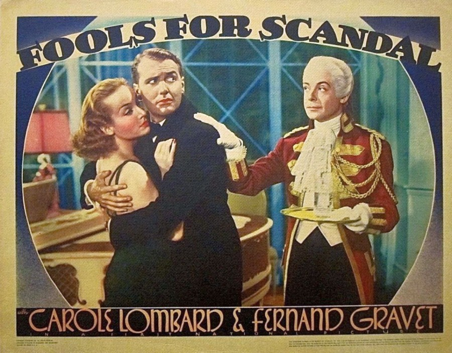 carole lombard fools for scandal lobby card 03a