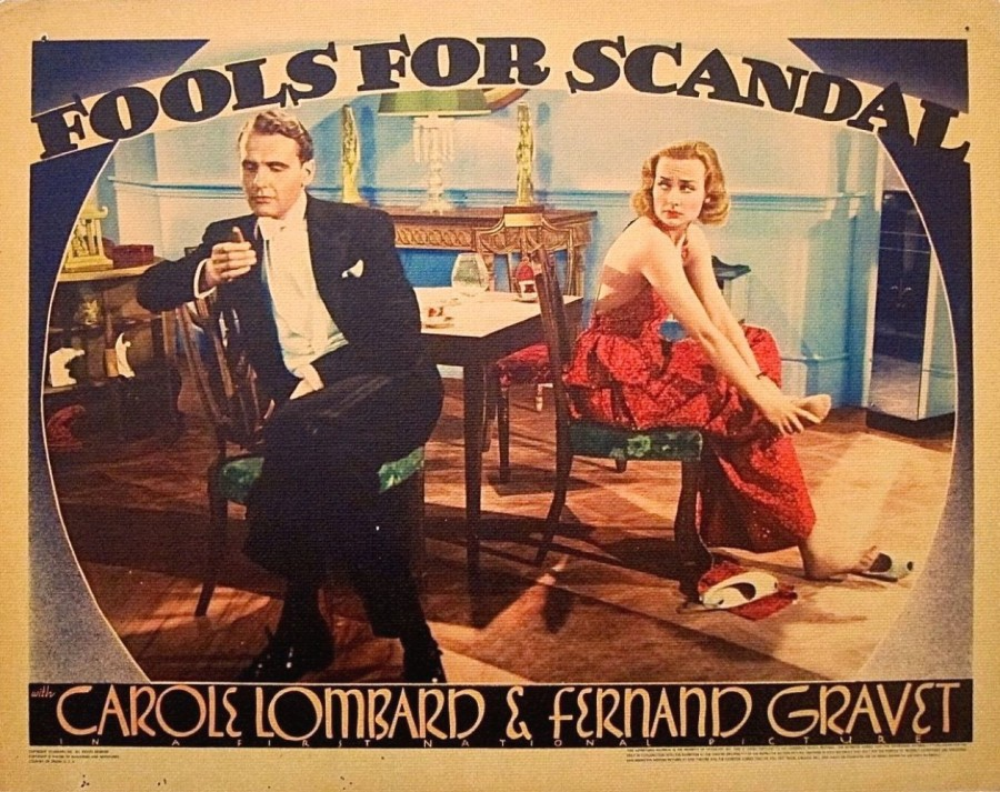 carole lombard fools for scandal lobby card 01a
