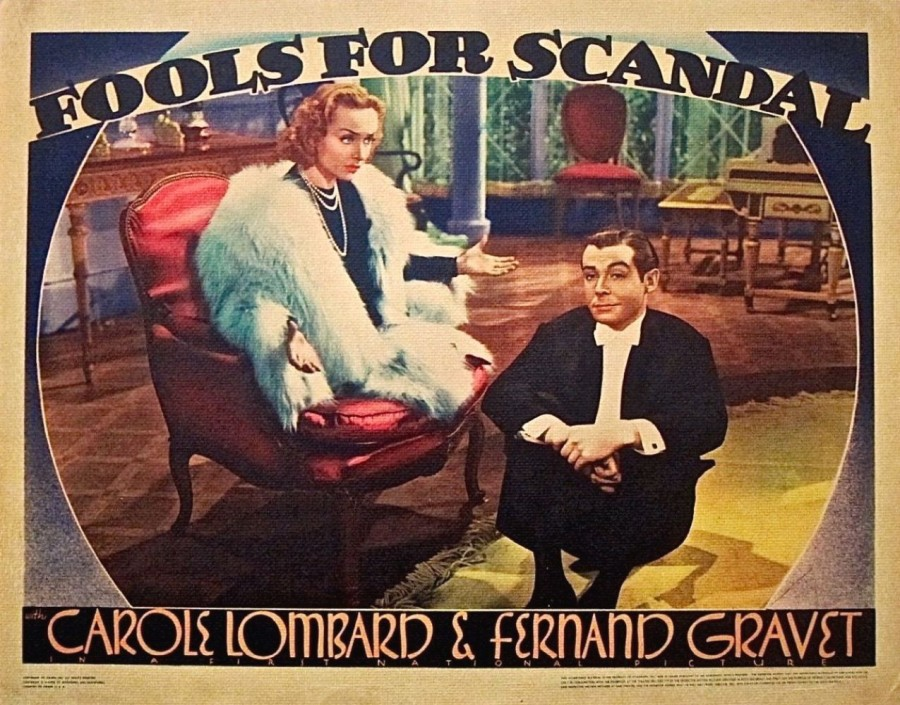 carole lombard fools for scandal lobby card 02a