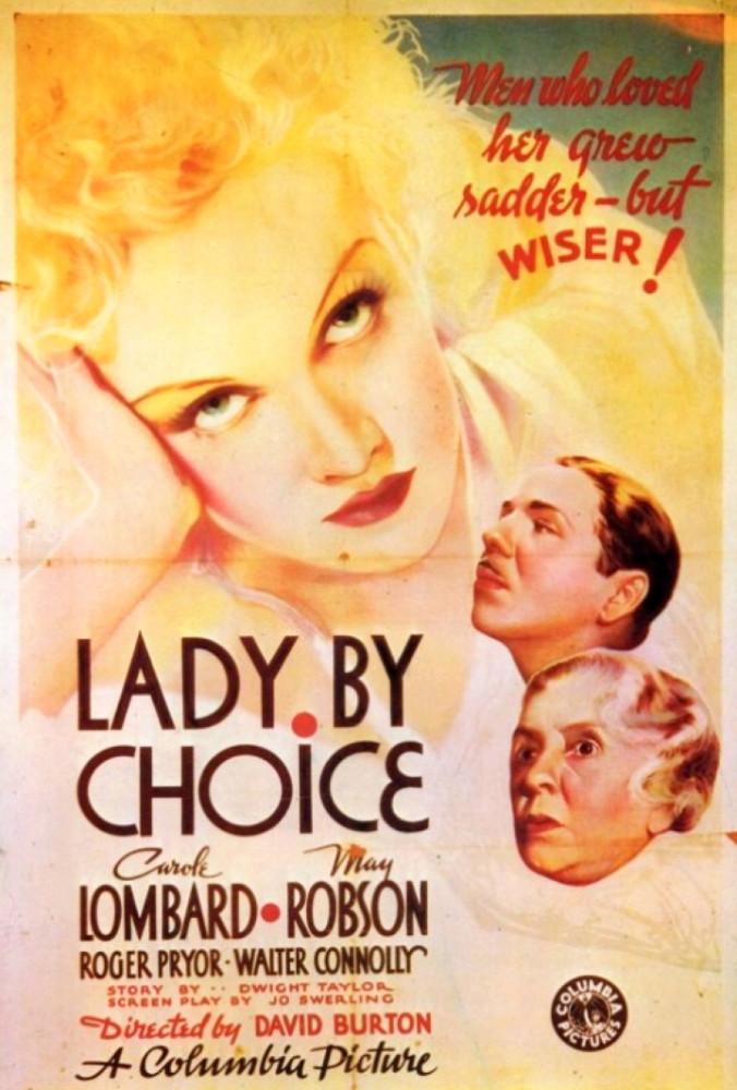 carole lombard lady by choice poster 00b