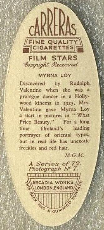 carreras 1934 myrna loy back