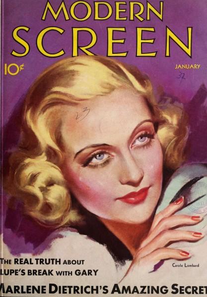 carole lombard modern screen january 1932b cover
