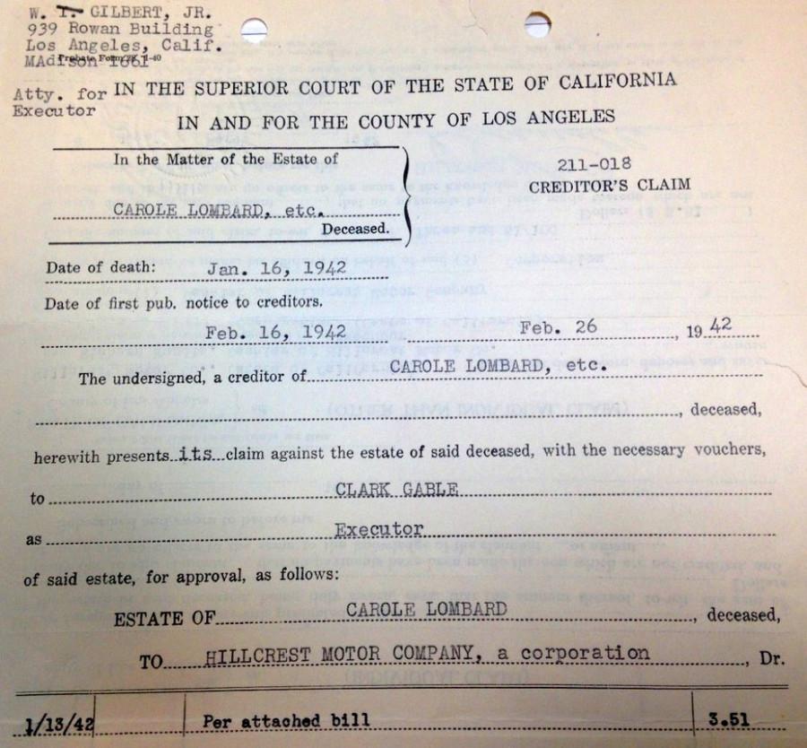 carole lombard clark gable 1942 estate document 01