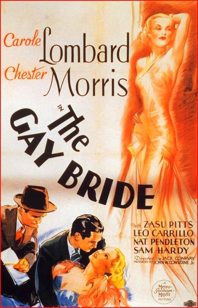 carole lombard the gay bride poster 00a