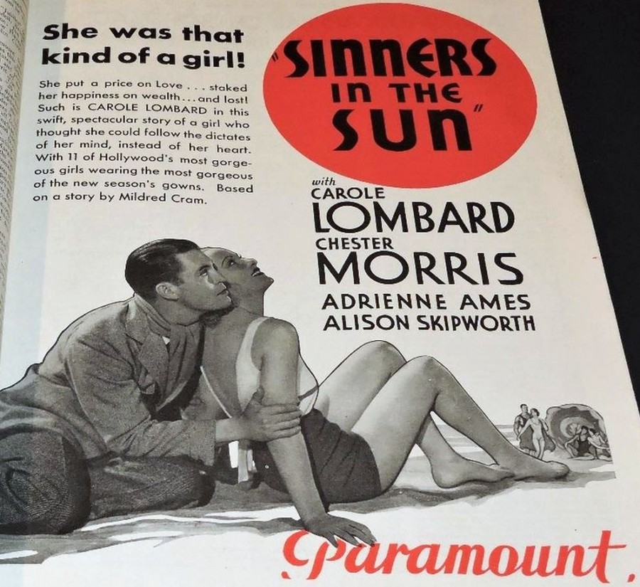 carole lombard sinners in the sun 051432b motion picture herald