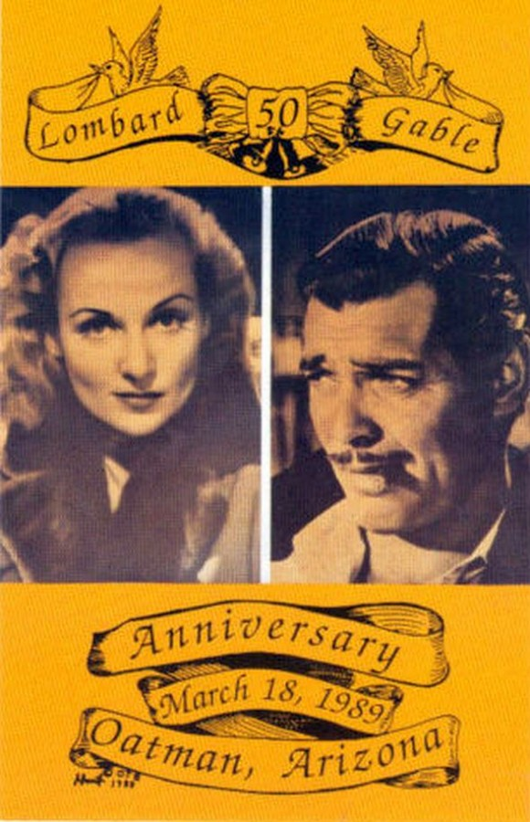 carole lombard clark gable anniversary postcard front 00a