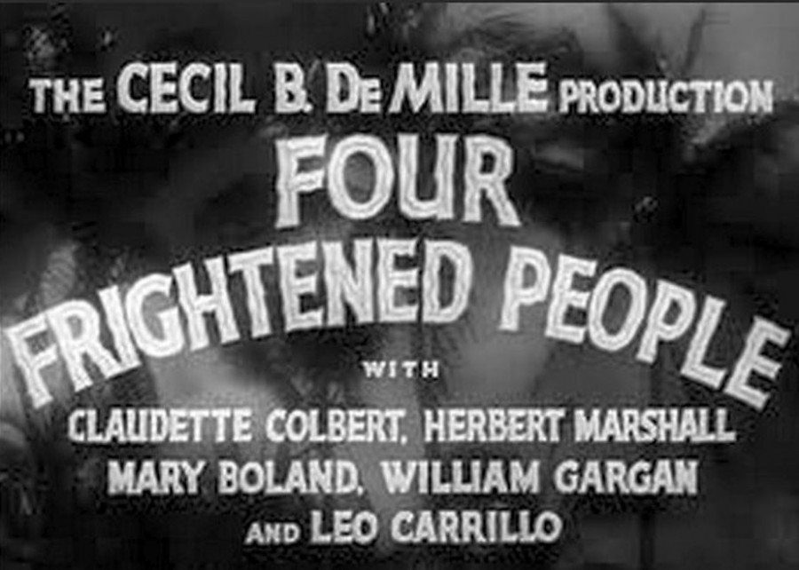 claudette colbert four frightened people title card 00b