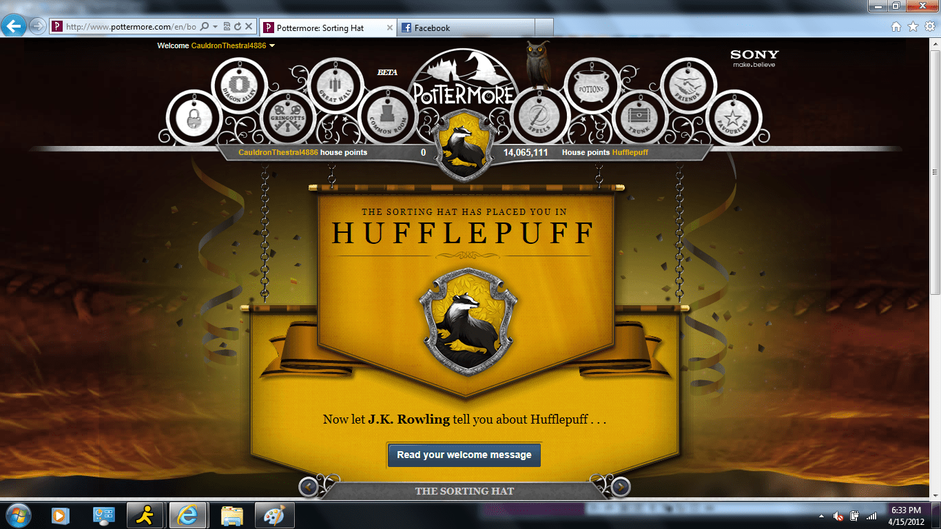 Adventures In Pottermore
