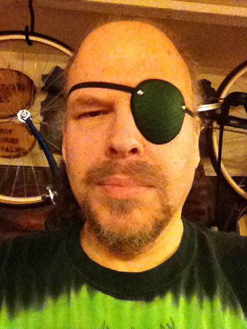green eye patch