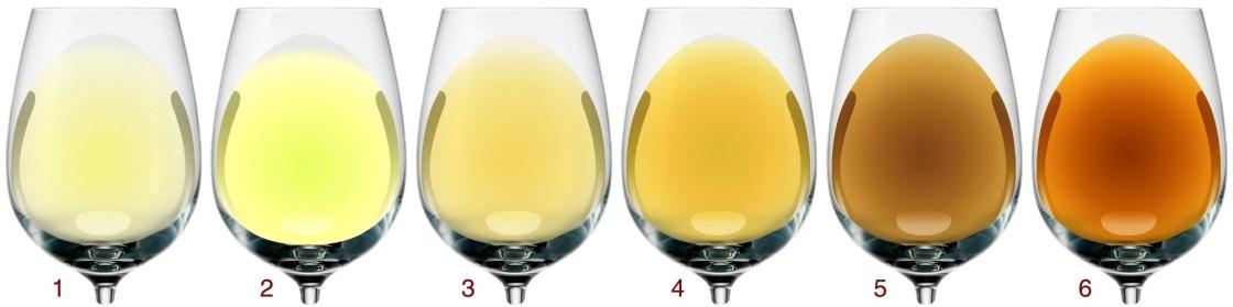Визначення типу білого вина за кольором 1