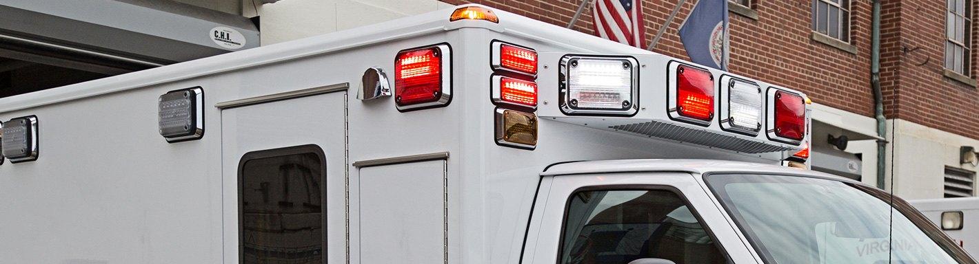 semi truck emergency vehicle lights