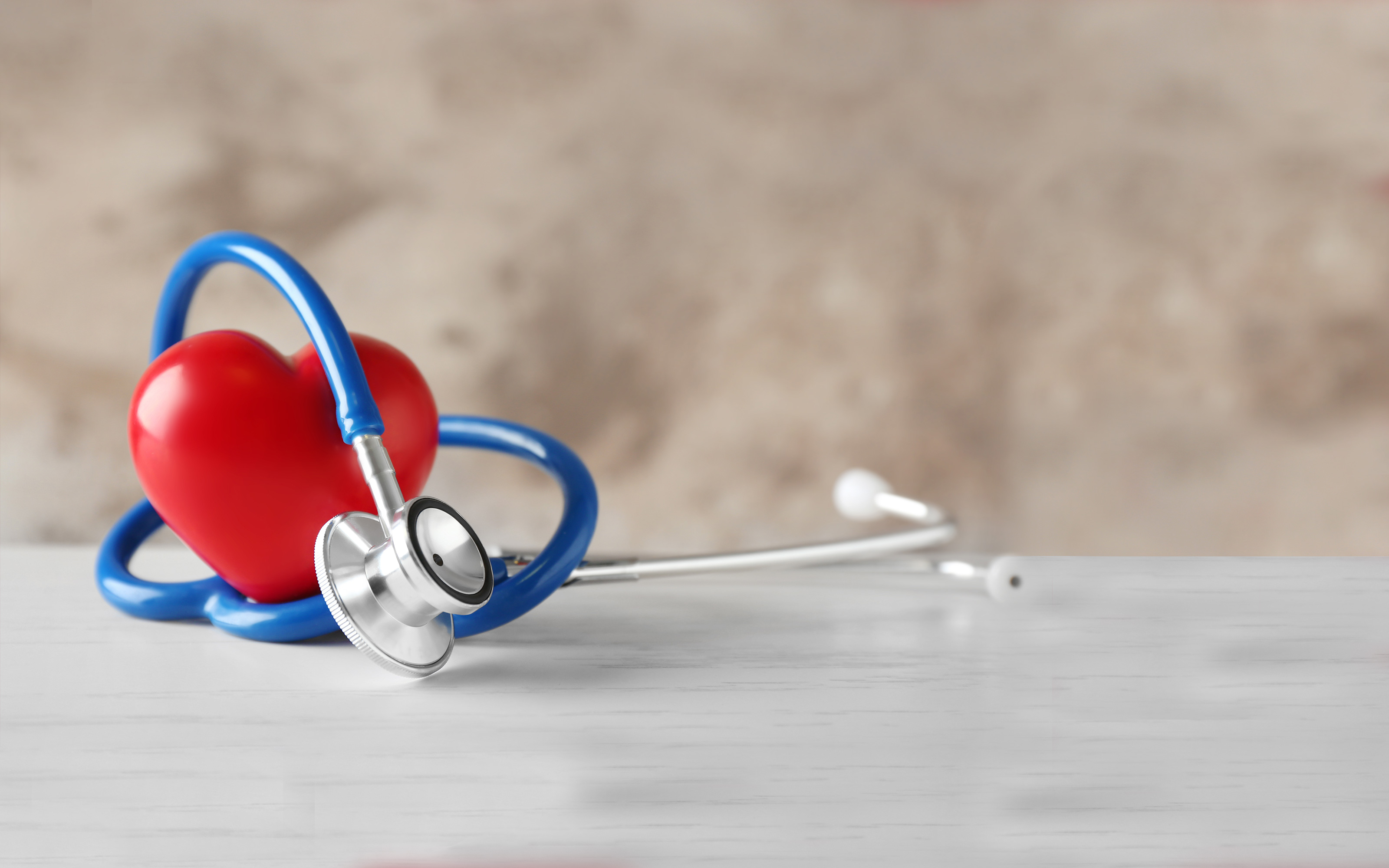 Stethoscope wrapped around a heart