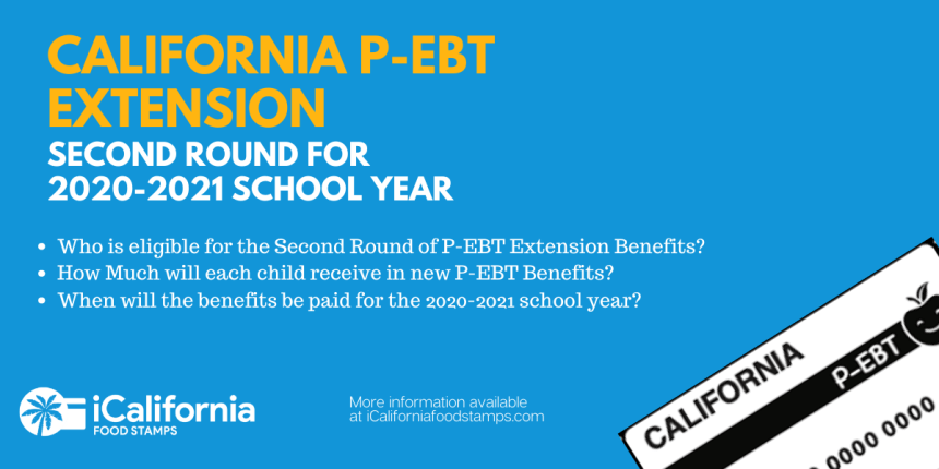 """Second round of California P-EBT payment"""