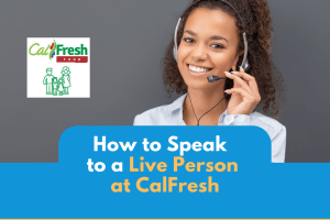 """How to speak to a live person at CalFresh"""