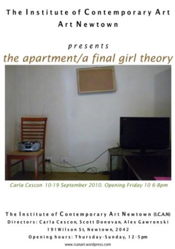 Carla Cescon - The Apartment/A Final Girl Theory