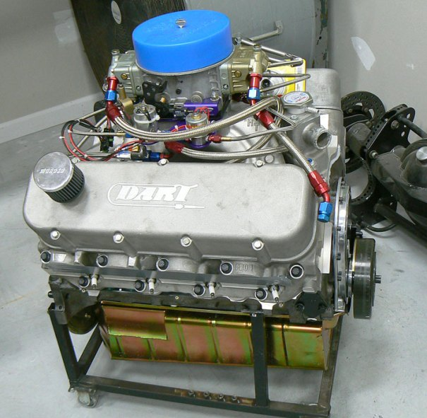 Fresh 482 BBC Race motor, headers included, steel crank, Eagle Rods, Ross Racing Pistons, Dart aluminum head and intake, Dominator Carb, MSD Cank Trigger and Distributor, solid rollover cam and lifters.