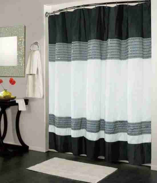Black And White Shower Curtain UK Decor IdeasDecor Ideas
