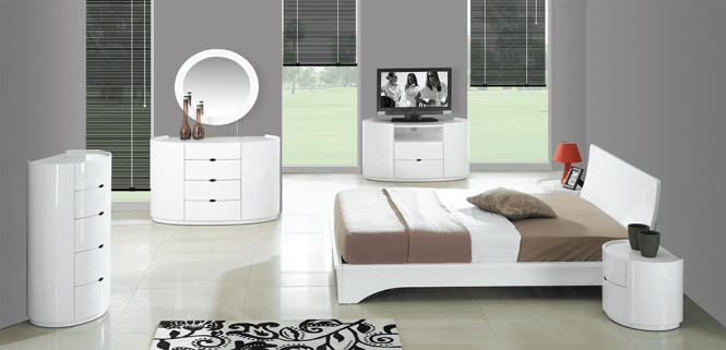 High Gloss White Bedroom Furniture Com