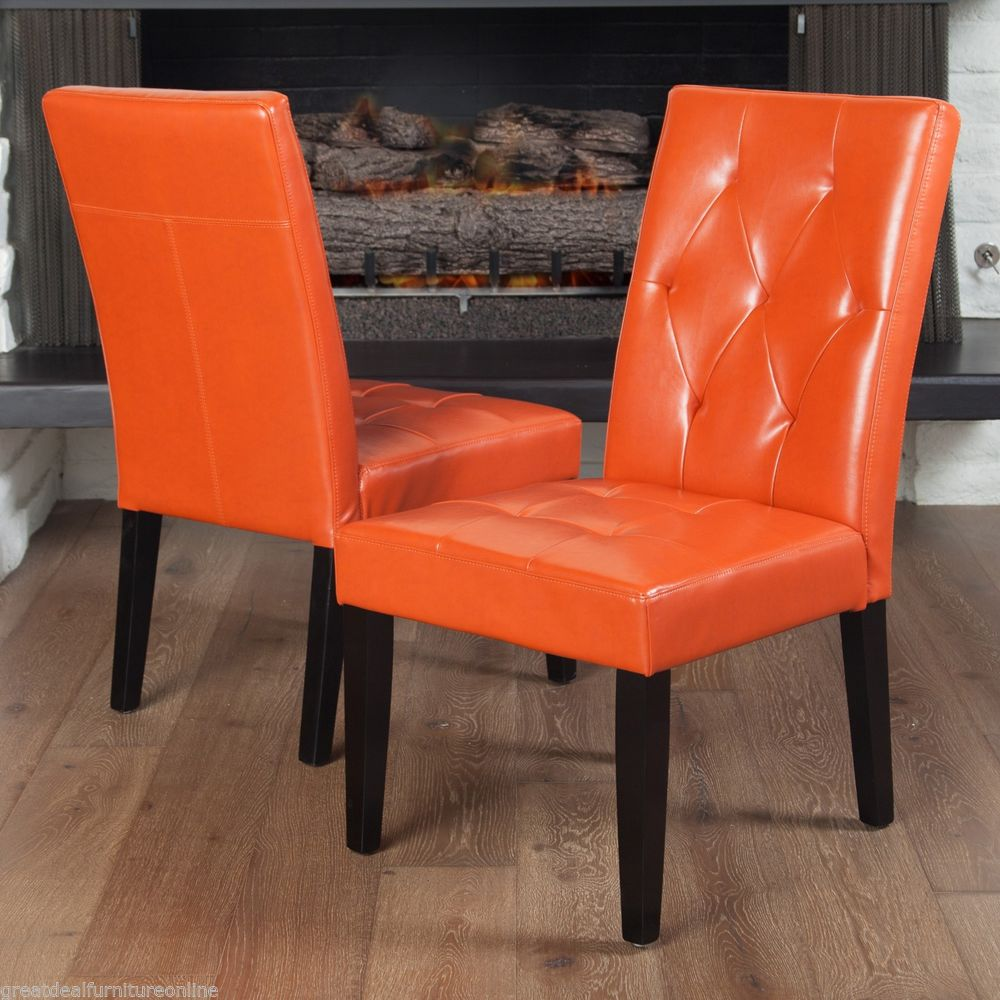 Chair Leather Accent Small