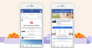 How do I create a birthday fundraiser on Facebook?