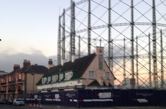 Sights seen walking at Dusk from Brixton via Kennington towards The Southbank