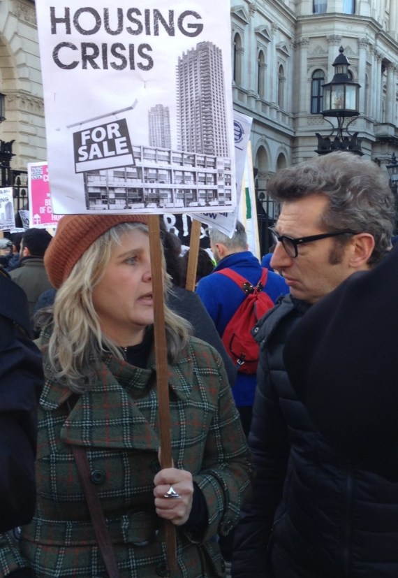 At Downing street a friend tells documentary maker why we need social housing.. go Deborah.!