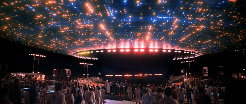 The titular moment in CLOSE ENCOUNTERS OF THE THIRD KIND (1977)