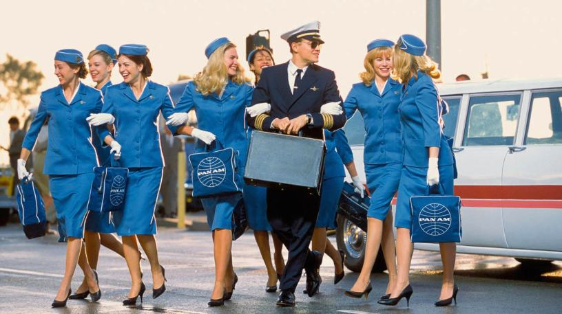 Leonardo DiCaprio stars as the real-life con man Frank Abagnale, Jr. in Steven Spielberg's CATCH ME IF YOU CAN (2002)