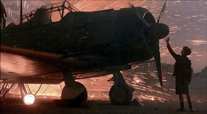 Christian Bale stars in Steven Spielberg's Pacific-set WWII movie EMPIRE OF THE SUN (1987)