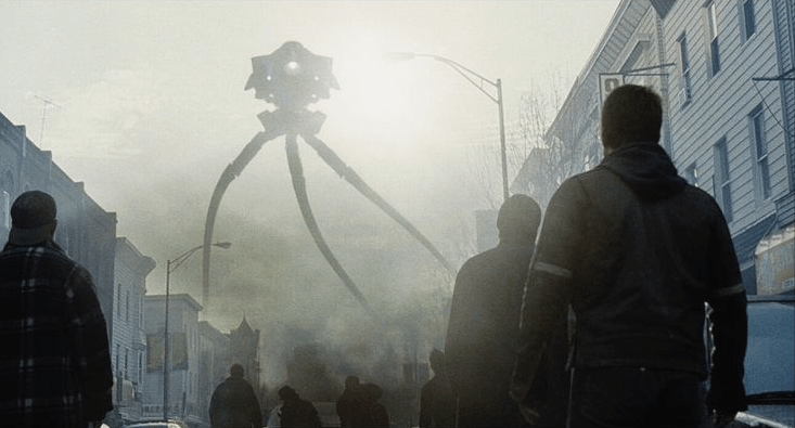 An alien probe is about to attack New York City in Steven Spielberg's WAR OF THE WORLDS (2005)