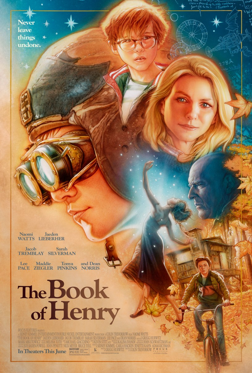 Retro Poster for THE BOOK OF HENRY.