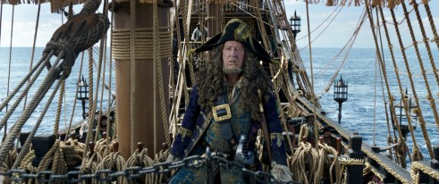 Geoffrey Rush as Barbossa in PIRATES OF THE CARIBBEAN: DEAD MEN TELL NO TALES (2017)