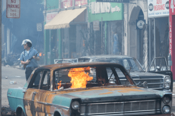 Riot aftermath in DETROIT.