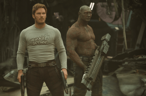 Chris Pratt and Dave Bautista star in GUARDIANS OF THE GALAXY, VOL. 2