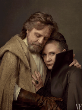 Mark Hamill and Carrie Fisher star in STAR WARS: THE LAST JEDI