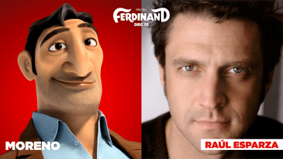 Raul Esparza is the voice of Moreno in FERDINAND.