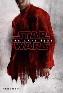 Finn character poster for STAR WARS: THE LAST JEDI.
