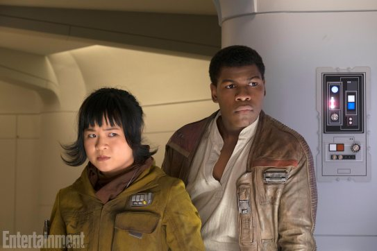 Kelly Marie Tran and John Boyega co-star as Rose and Finn in STAR WARS: THE LAST JEDI.