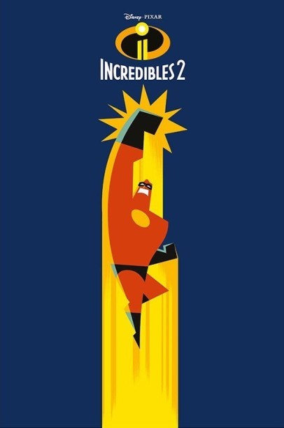 INCREDIBLES 2 Mr Incredible Pop Art One Sheet