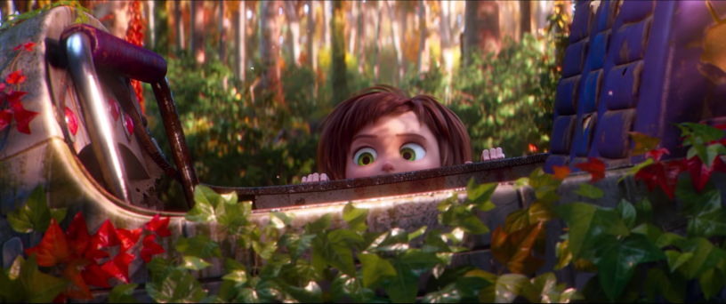 June finds a ride in the woods in Paramount Animation's WONDER PARK