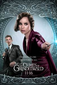 Zoe Kravitz as Leta Lestrange and Callum Turner as Theseus Scamander in FANTASTIC BEASTS: THE CRIMES OF GRINDELWALD (2018)