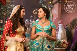 Nasim Pedrad and Naomi Scott co-star as Dalia and Jasmine in the live-action remake of ALADDIN (2019)